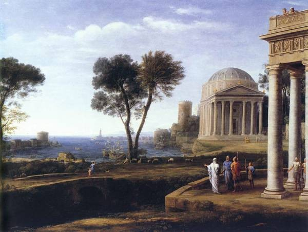 Landscape with Aeneas at Delos WGA